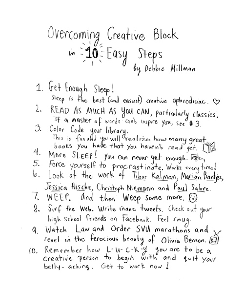 Strategies to overcome creative block...